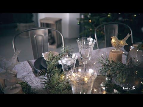 Diy De Noel Nature Et Lumiere Sur Ma Table De Fetes Youtube