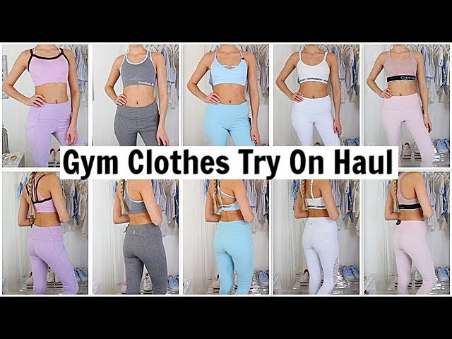 1fd05b9d4e7 SPRING HAUL GYM CLOTHES TRY ON   Sports Bras Haul  Activewear Haul   Leggings Yoga Pants Haul Try On