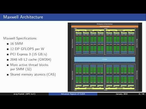 Advanced GPU computing: GPU architecture, CUDA shared memory