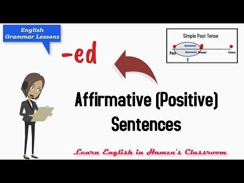 Simple Past Tense - 02 - Affirmative (Positive) Sentences - English Grammar Lessons