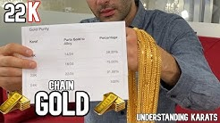 What are GOLD KARATS ? 22K GOLD CHAIN Video Review