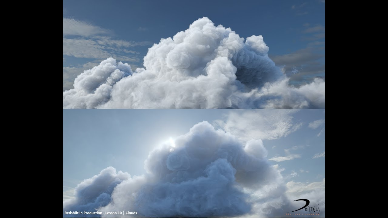 Redshift in Production | Lesson 10 - Clouds Tutorial Preview