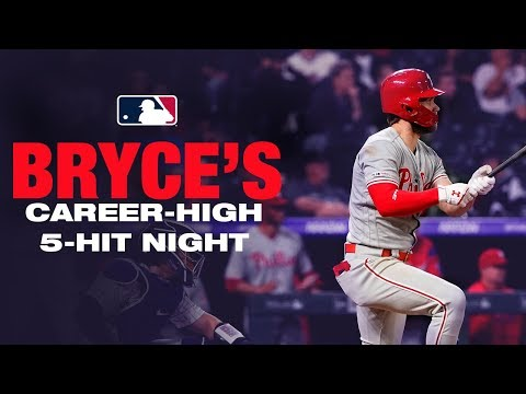 Bryce Harper's career high five-hit night