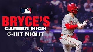 Bryce Harper's career high five-hit night