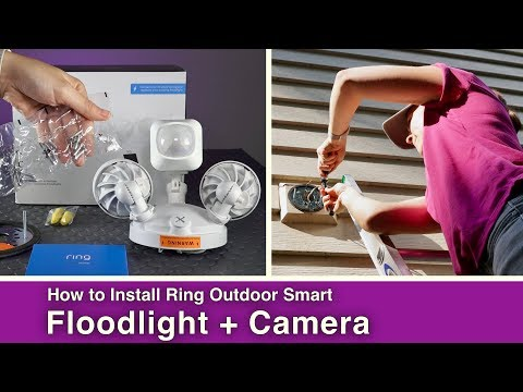 How to Install Smart Outdoor Floodlight + Camera// Ring
