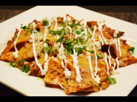 Red Chilaquiles Mexican Recipe, easy and delicious!
