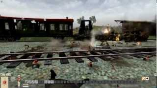 "MEN OF WAR (PC): The Ambush of Railgun ""Bruno""  - Eastern Front July 1943"