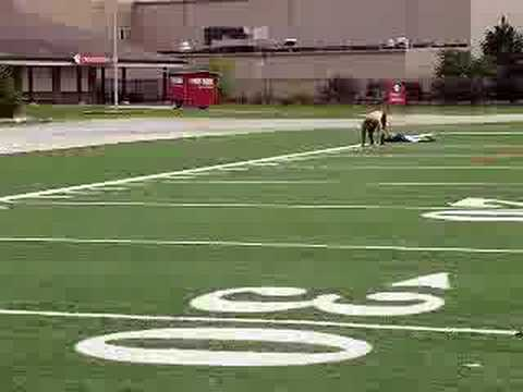 Mike Lally 4.68 40 yard dash