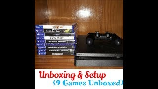 Ps4 Unboxing + First Time Setup! + 9 Games Unboxed!!!