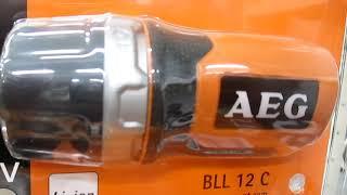 Обзор аккумуляторного фонаря (FLASHLIGHTS  BATTERY LAMPS) AEG BLL 12 C
