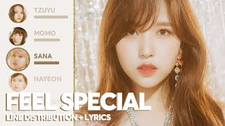 TWICE - Feel Special (Line Distribution + Color Coded Lyrics)