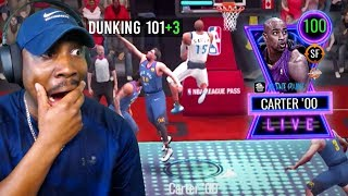 100 OVR VINCE CARTER with 104 DUNK RATING! NBA Live Mobile 20 Season 4 Gameplay Ep. 37