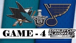 San Jose Sharks Vs St. Louis Blues  Western Conference Final  Game 4  Nhl 201819  Обзор матча