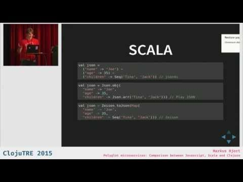 Polyglot microservices: Comparison between Javascript, Scala and Clojure