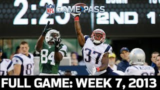 An OT Thriller! New York Jets vs. New England Patriots Week 7, 2013 Full Game