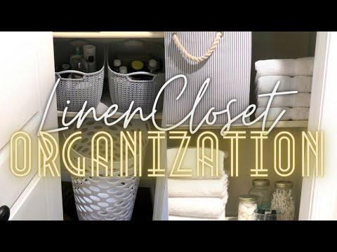 linen-closet-organization-ideas:-dollar-tree-organization