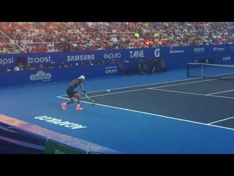 Rafael Nadal practice in Acapulco Open with slow motion hitting