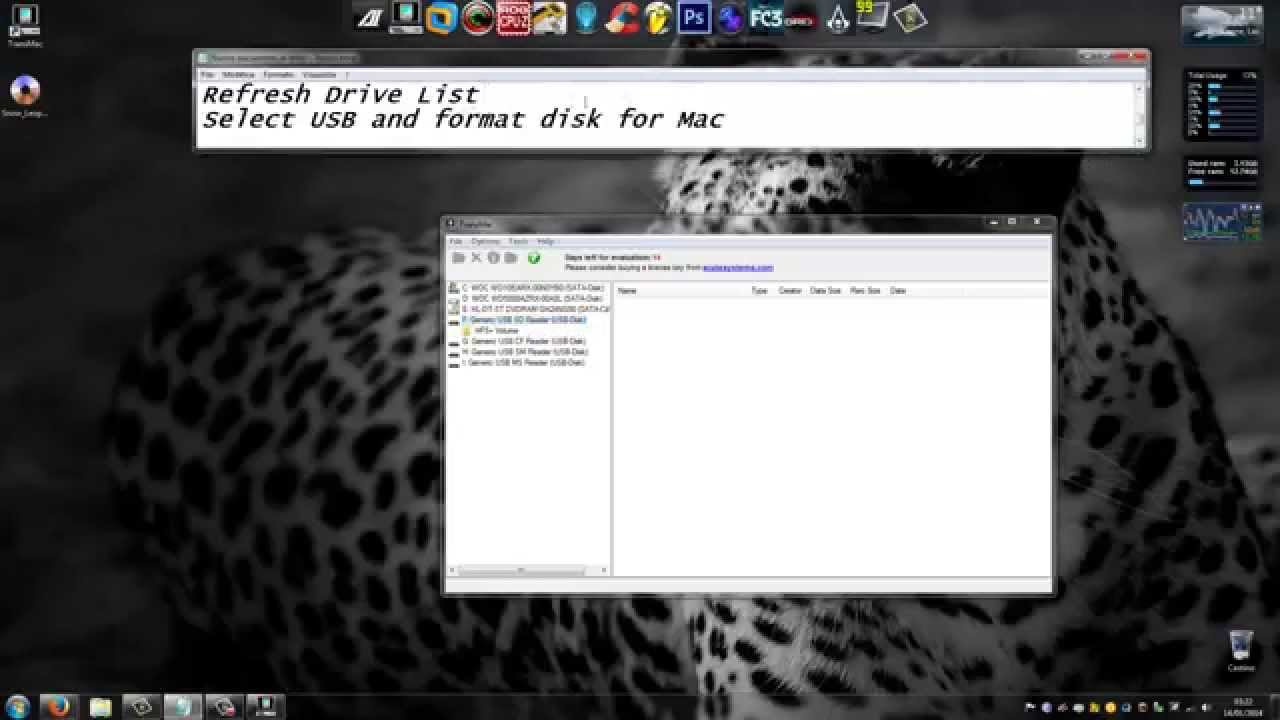 Install MacOSX Snow Leopard from USB drive to a Windows PC ...
