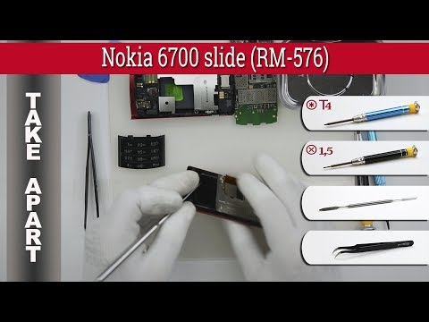 How to disassemble 📱 Nokia 6700 slide RM-576 \ RM-577 Take apart Tutorial