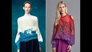 Вязание Спицами - Женский Джемпер - модели 2019 / Knitting With Needles / Stricken Mit Nadeln