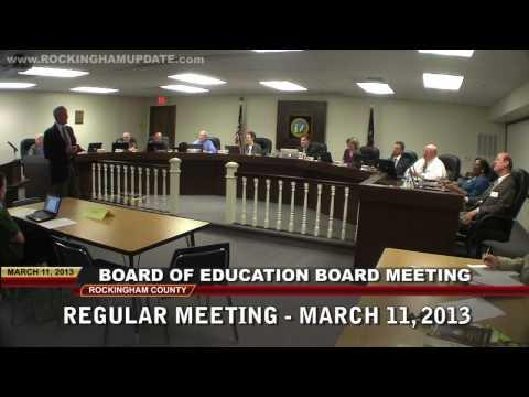 March 11, 2013 - Rockingham County Board of Education Board Meeting