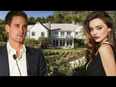 Snapchat CEO Evan Spiegel's and Miranda Kerr's new house in Brentwood, Los Angeles