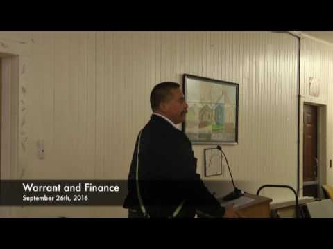 Warrant and Finance - 09-26-2016
