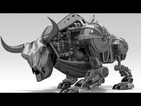 РОБОТ БЫК. 3D анимация