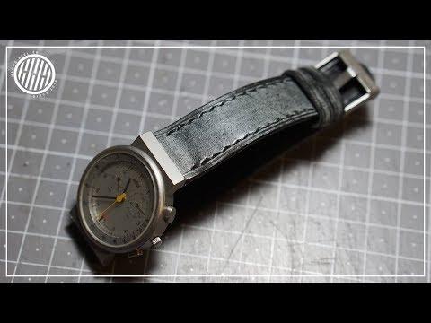 [Leather Craft] Making Watch strap / Braun AW 60 3806 strap