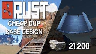 10-18 C4 Hard To Raid RUST DUO BASE DESIGN - Rust Base Building (21,000 Stone)