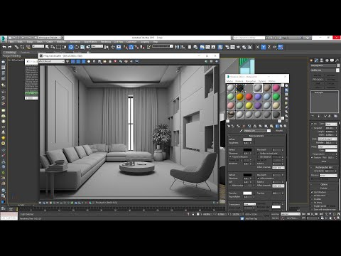3dmax L Vray Interior Design - Livingroom Lec2