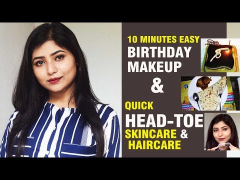 Quick Birthday Makeup & Head to Toe Skincare Hair care|How to Get Ready For An Event thumbnail