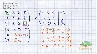 Метод Жордана Гаусса метод прямоугольников  Видеоурок