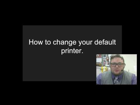 How to change your default printer