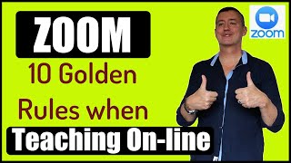 10 Golden Rules when teaching with Zoom #TeachOnline #Zoom