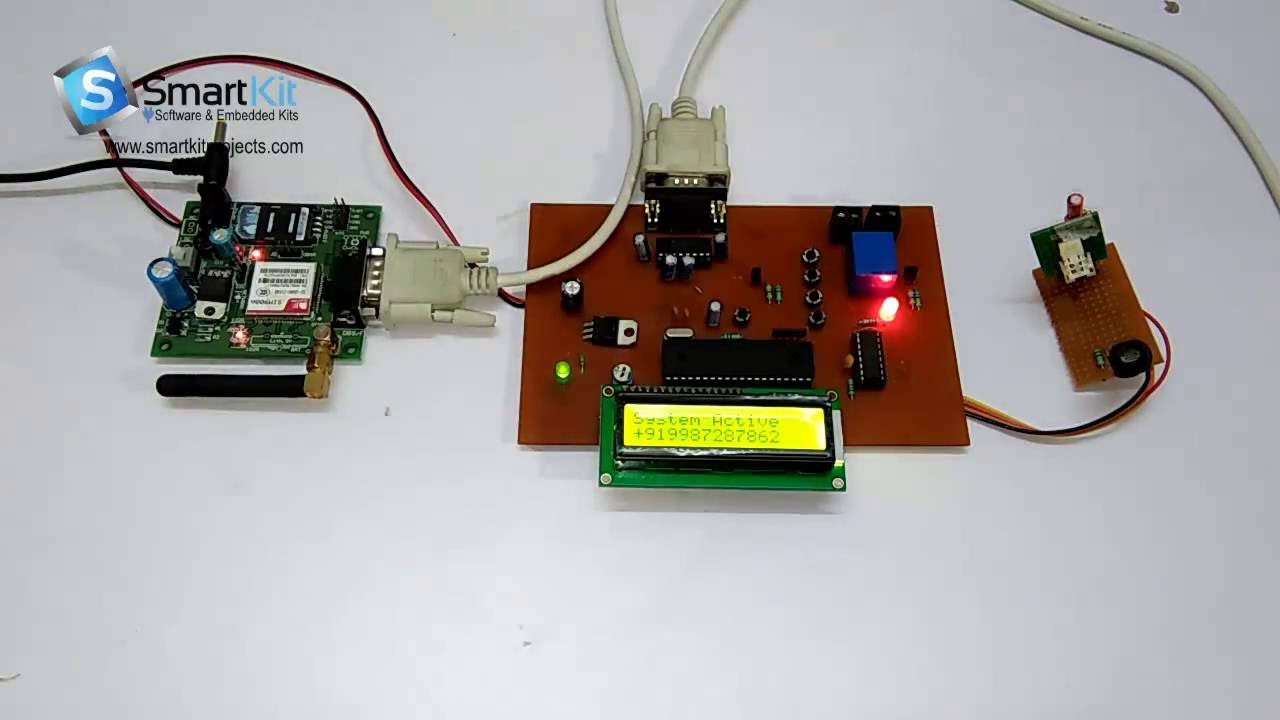 Gsm Based Weather Station Reporting System Using 8051 Rain Detector Circuit Diagram Microcontroller