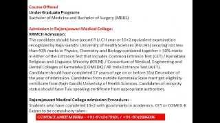 MBBS Admissions in Rajarajeswari Medical College & Hospital RRMCH, Bangalore