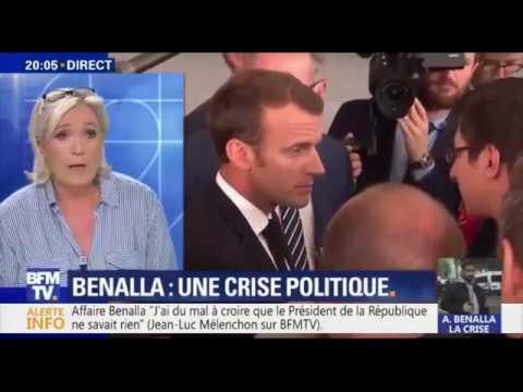 Marine Le Pen réagit à l'affaire Alexandre Benalla sur BFM TV (21/07/2018)