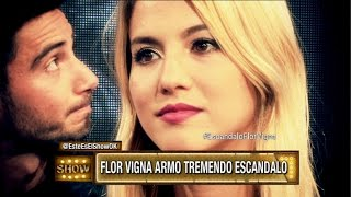 ¡Flor Vigna armó un escándalo en Showmatch!