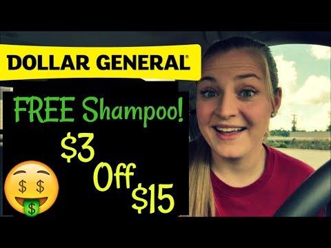 Dollar General $3 off $15 | FREE Shampoo!