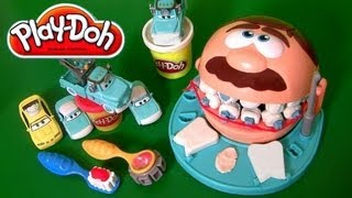 Play Doh Doctor Drill N Fill Playset Dentist Mater Disney Pixar Cars El Dentista Bromista Brincalhão