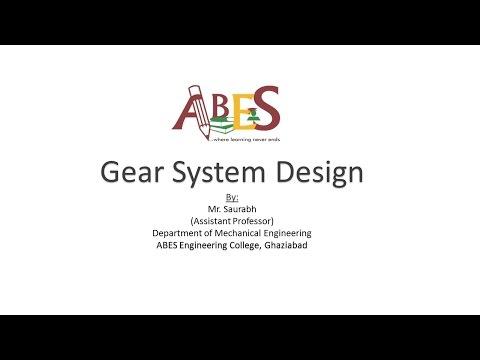 Gear System Design by Mr. Saurabh [Soft Computing]