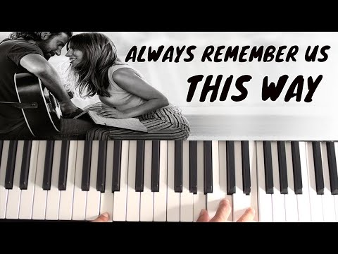 How to play Always Remember Us This Way on Piano - Lady Gaga - A Star Is Born - Piano Tutorial