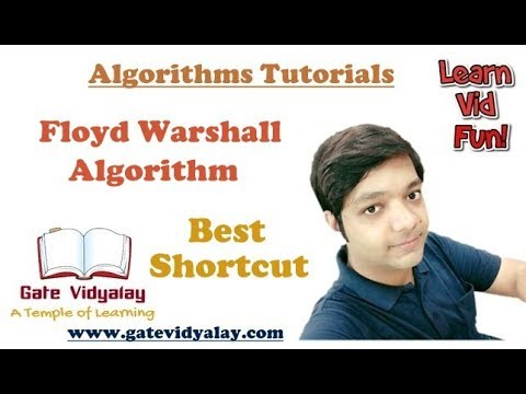 Floyd Warshall Algorithm Numerical SHORTCUT !!!