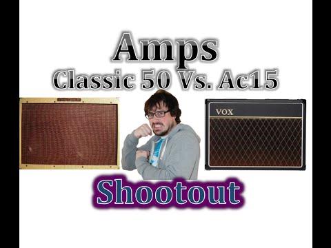Vox Ac15 CC1 Vs Peavey Classic 50 Amp Shootout Comparison