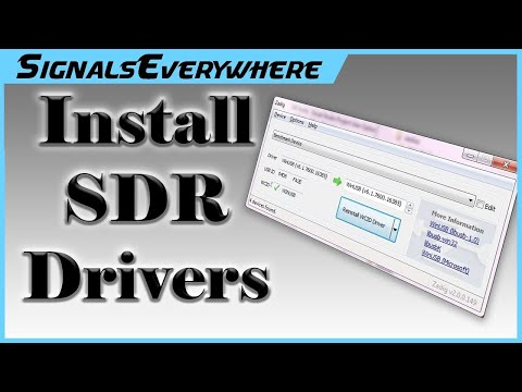 RTL SDR Setup Install Drivers 2019 Part 1