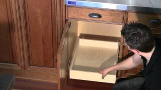Install Roll Out Shelf To Base Cabinet Deck