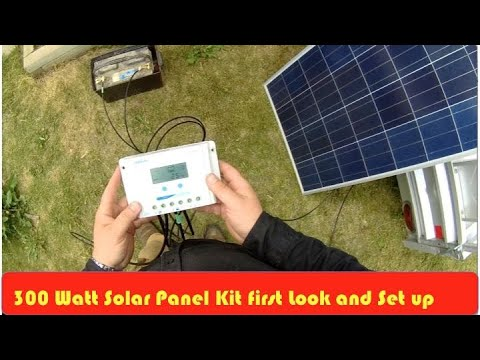 Solar Energy DC 300 Watt Kit First Set Up