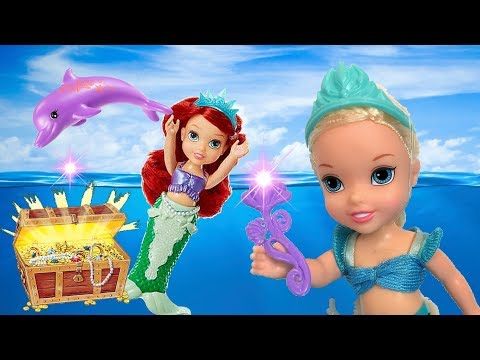 Anna and Elsa Toddlers Underwater Adventure with Ariel and the Mermaids - Toys and Dolls - Barbie