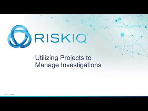 Utilizing Projects to Manage Investigations